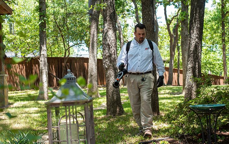 plano texas home being treated for mosquitoes