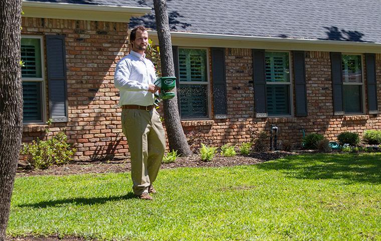 a lawn treatment at a southlake texas home