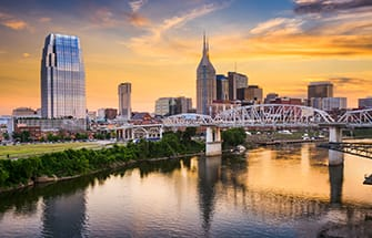 skyline view of nashville tennessee