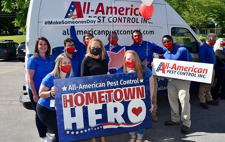 celebrating the hometown hero