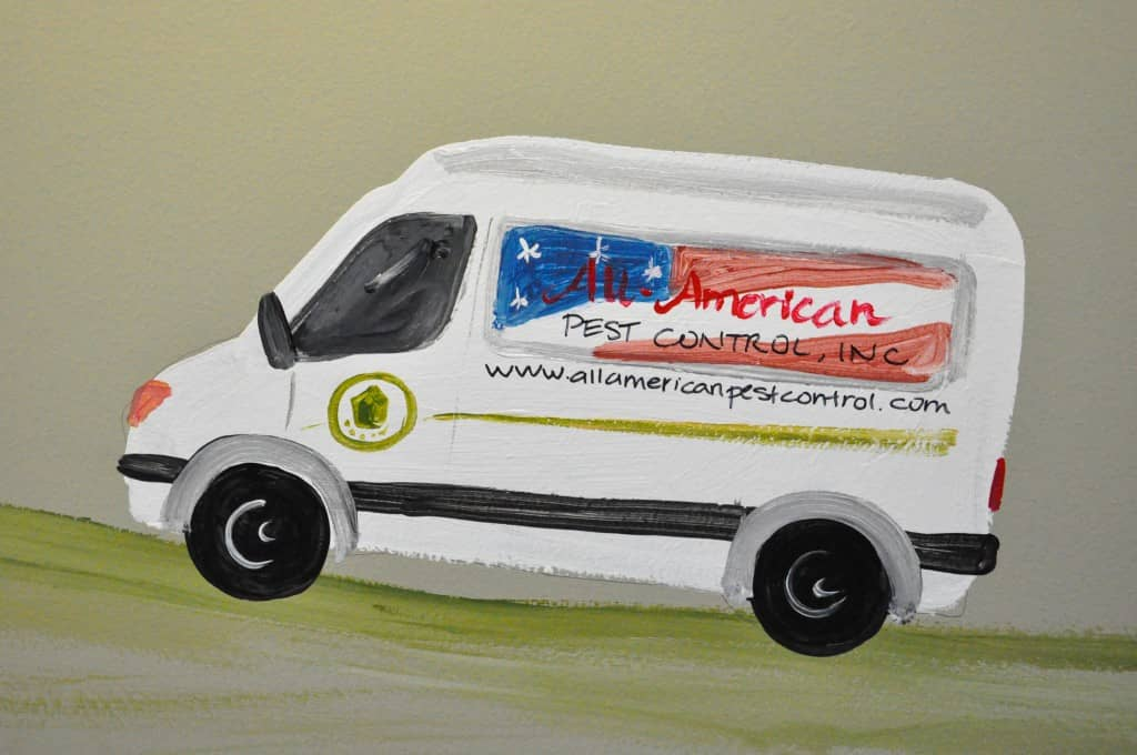 Service vehicle for All-American Pest Control in Nashville, TN