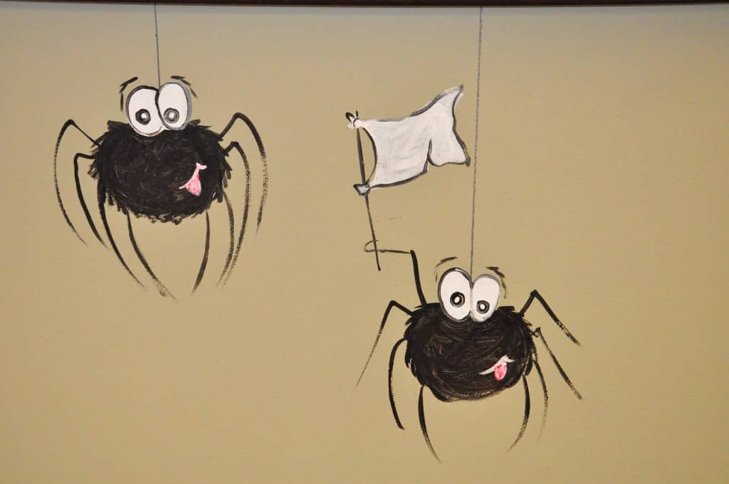 spider mural at All-American Pest Control