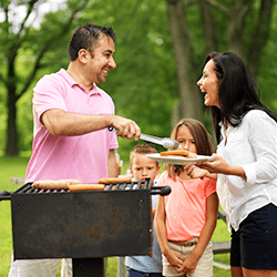 family at a cookout