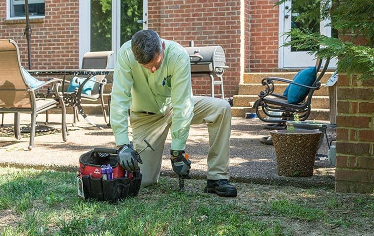 nashville termite control specialists installing sentricon system