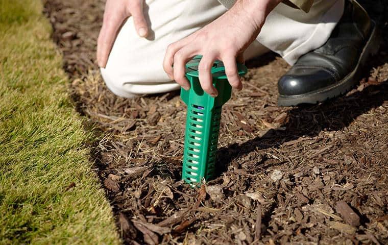 nashville pest control specialist installing sentricon