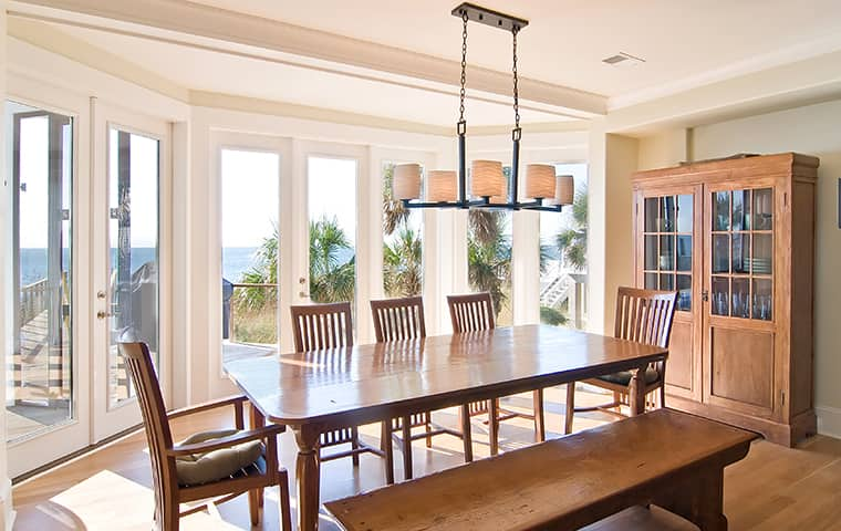 interior view of a beach home serviced by four seasons hometown pest control in shawboro north carolina
