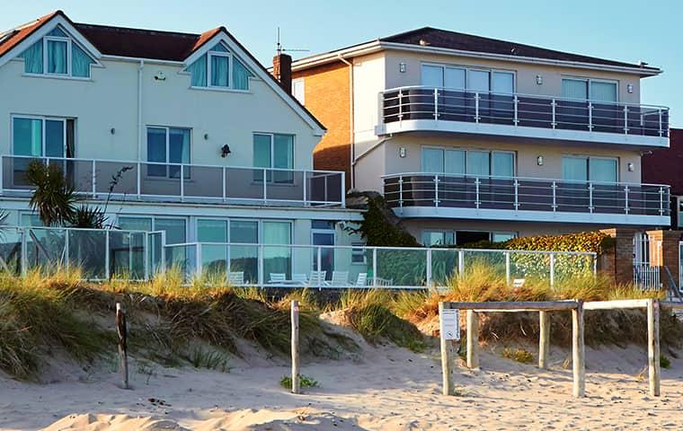 a row of beach homes in seaford virginia