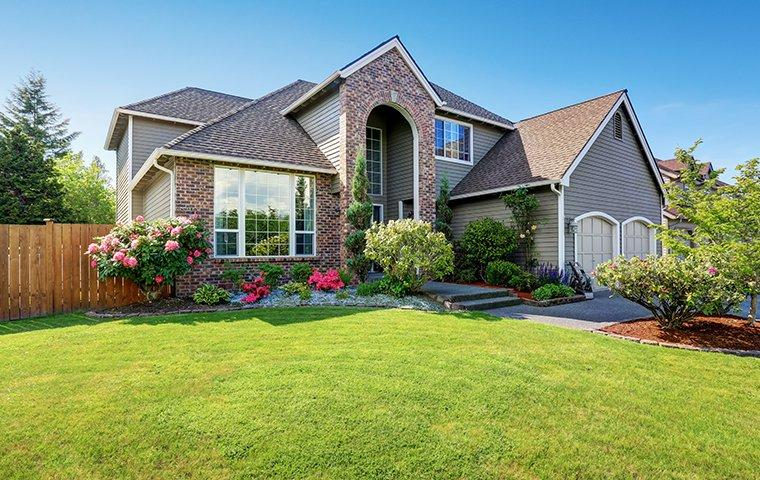 a nice house with a big yard