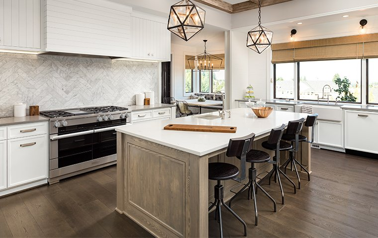 a nice kitchen in a house