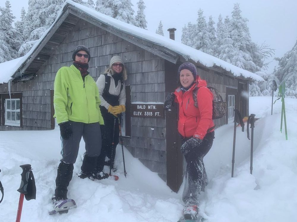 Finding shelter on a cold day on Bald Mountain. Photo credit: Trail Finder user