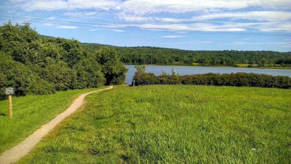 The trail to Colchester Pond