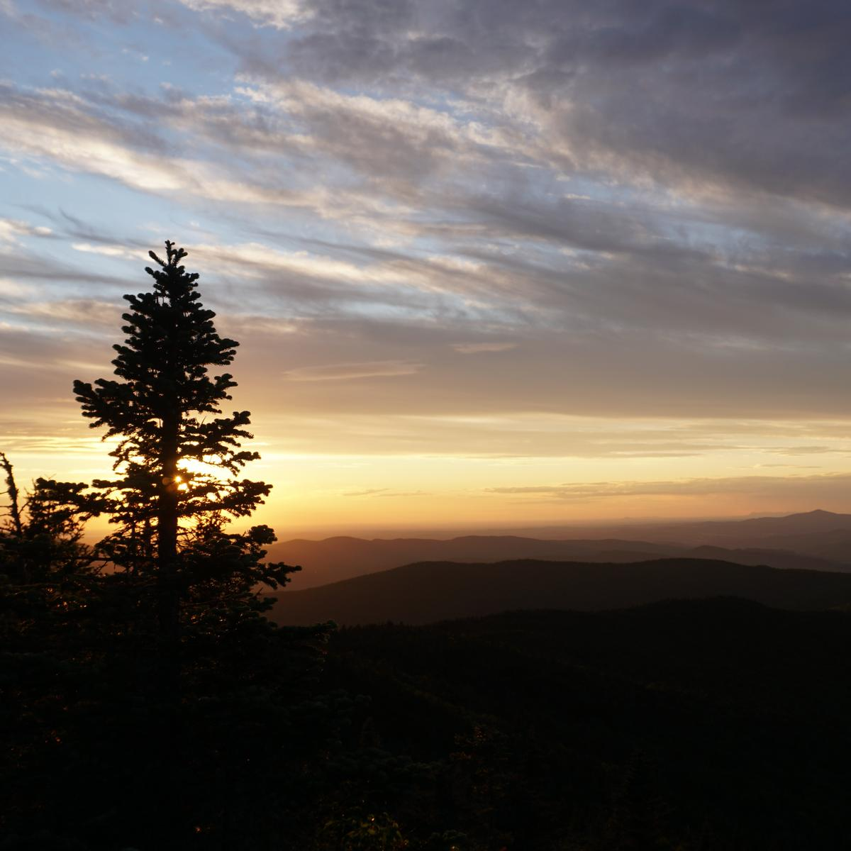 Sunset in the mountains. Photo credit: Mike Finnegan