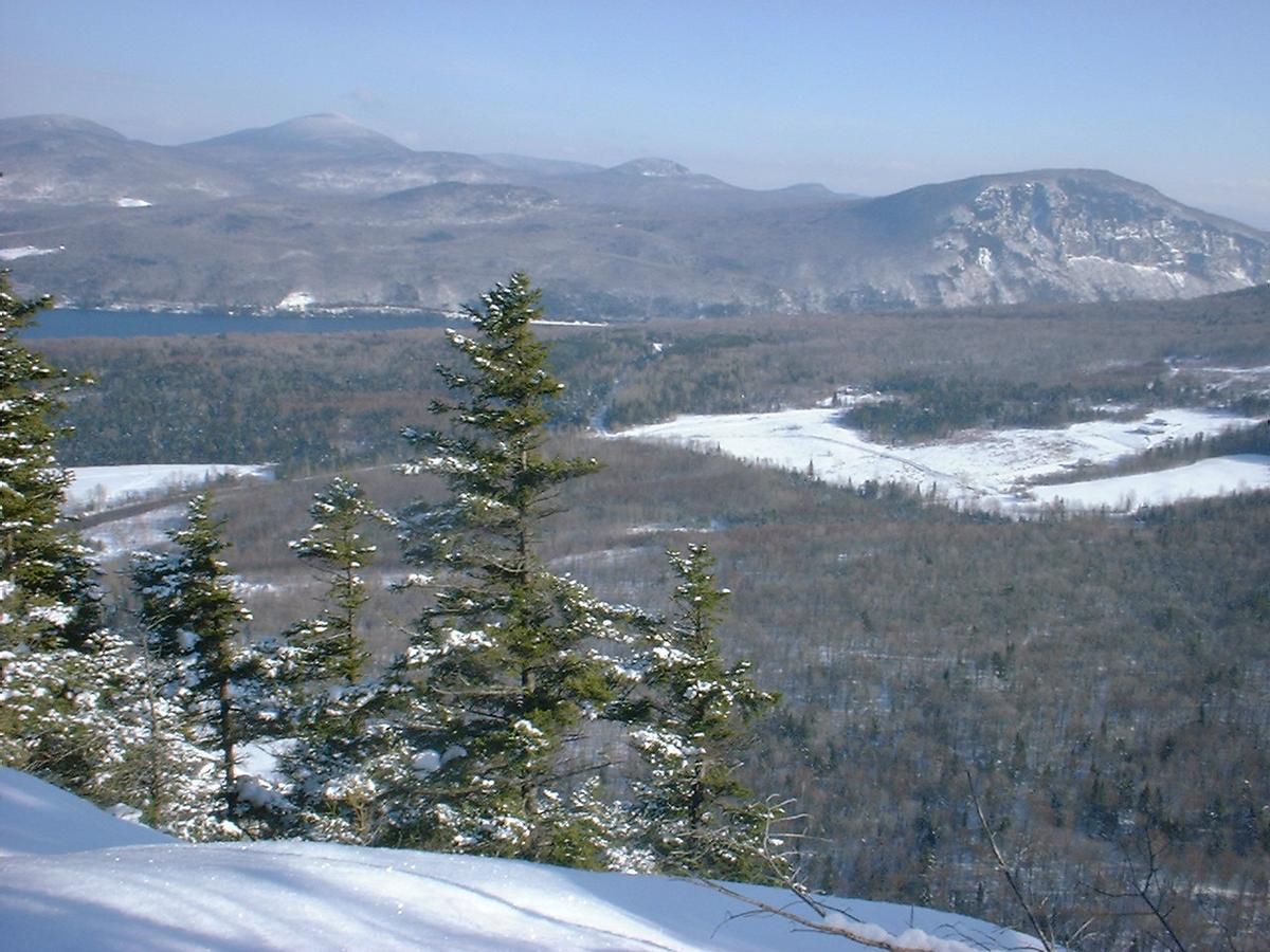 View from Wheeler Mountain in the winter.