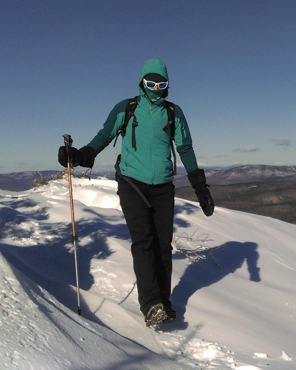 Extra layers (and mini-crampons) are especially important when your destination is exposed to the wind, like a summit, ridge or viewpoint.