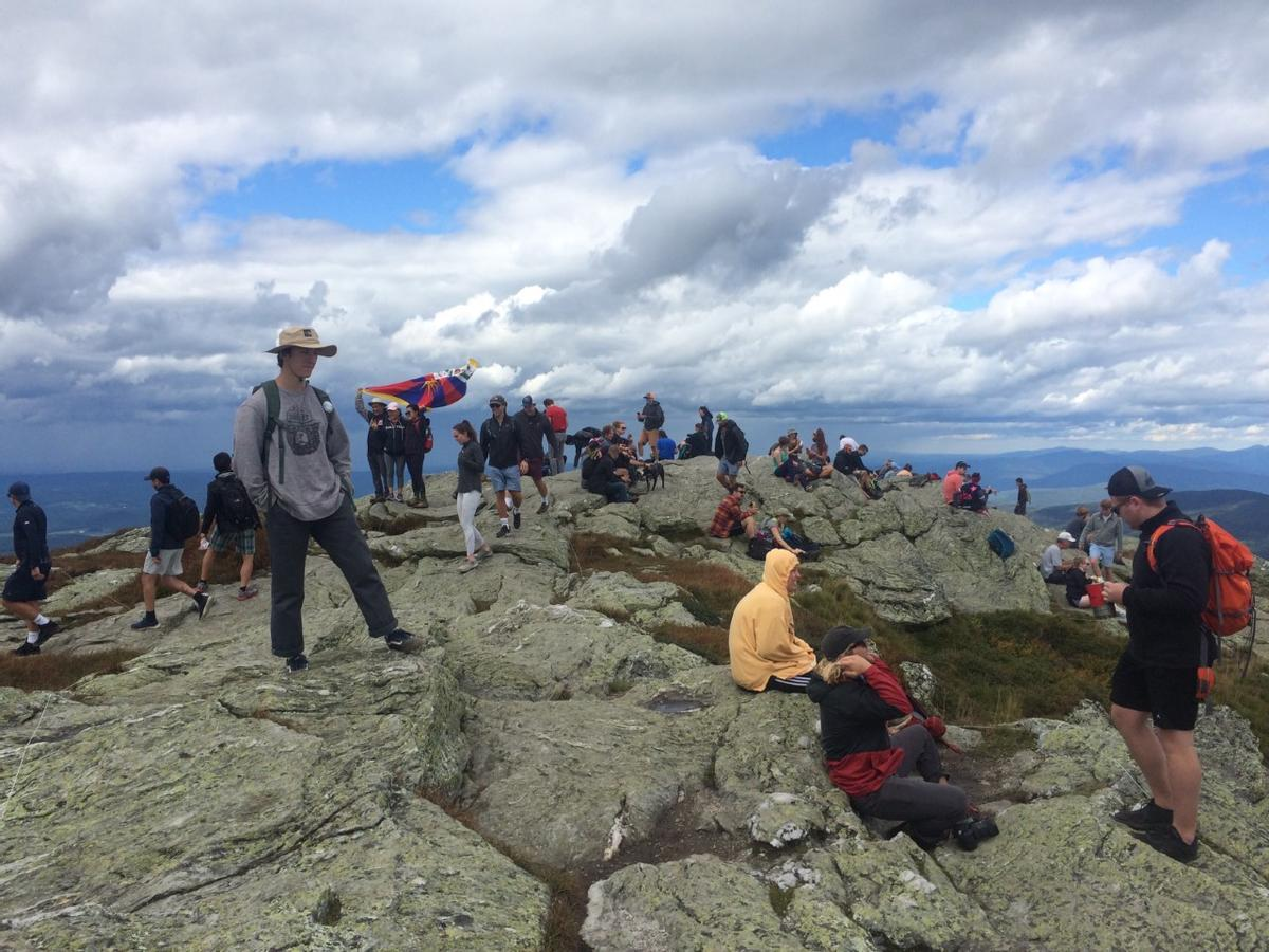 A busy day on Mt. Mansfield. Photo credit: Michael Dillon, Green Mountain Club