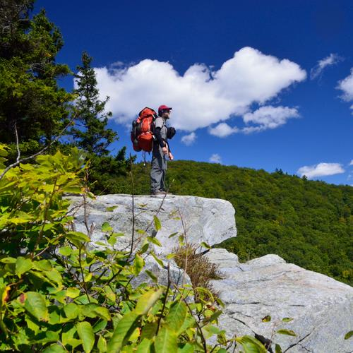 Hiker on overlook