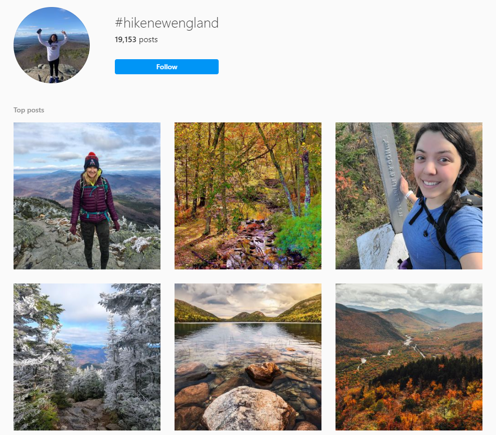 It is fun to share your adventures with your friends and followers! If a trail pops up on your feed a lot, that is a pretty good sign it will be busy if you decide to visit.