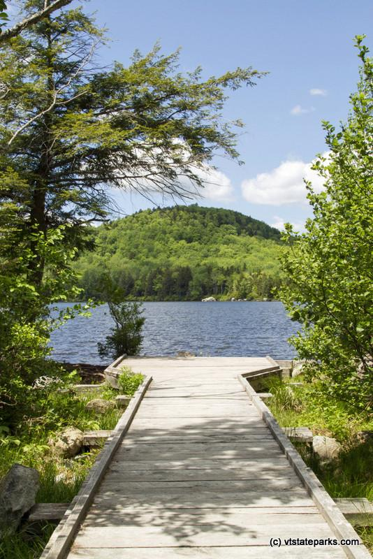 Kettle Pond accessible walkway and canoe launch.