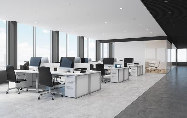 view of a beautiful office space