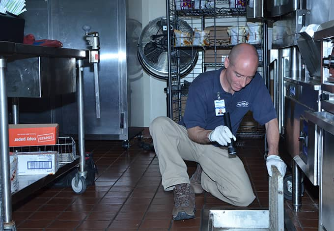 commercial technician inspecting kitchen in somers