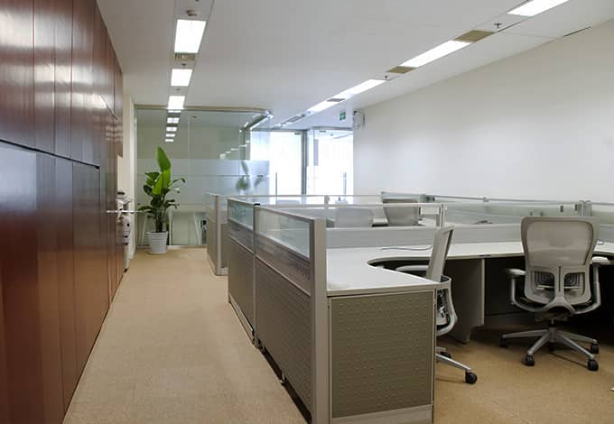 an office space with desks and chairs in lynbrook new york