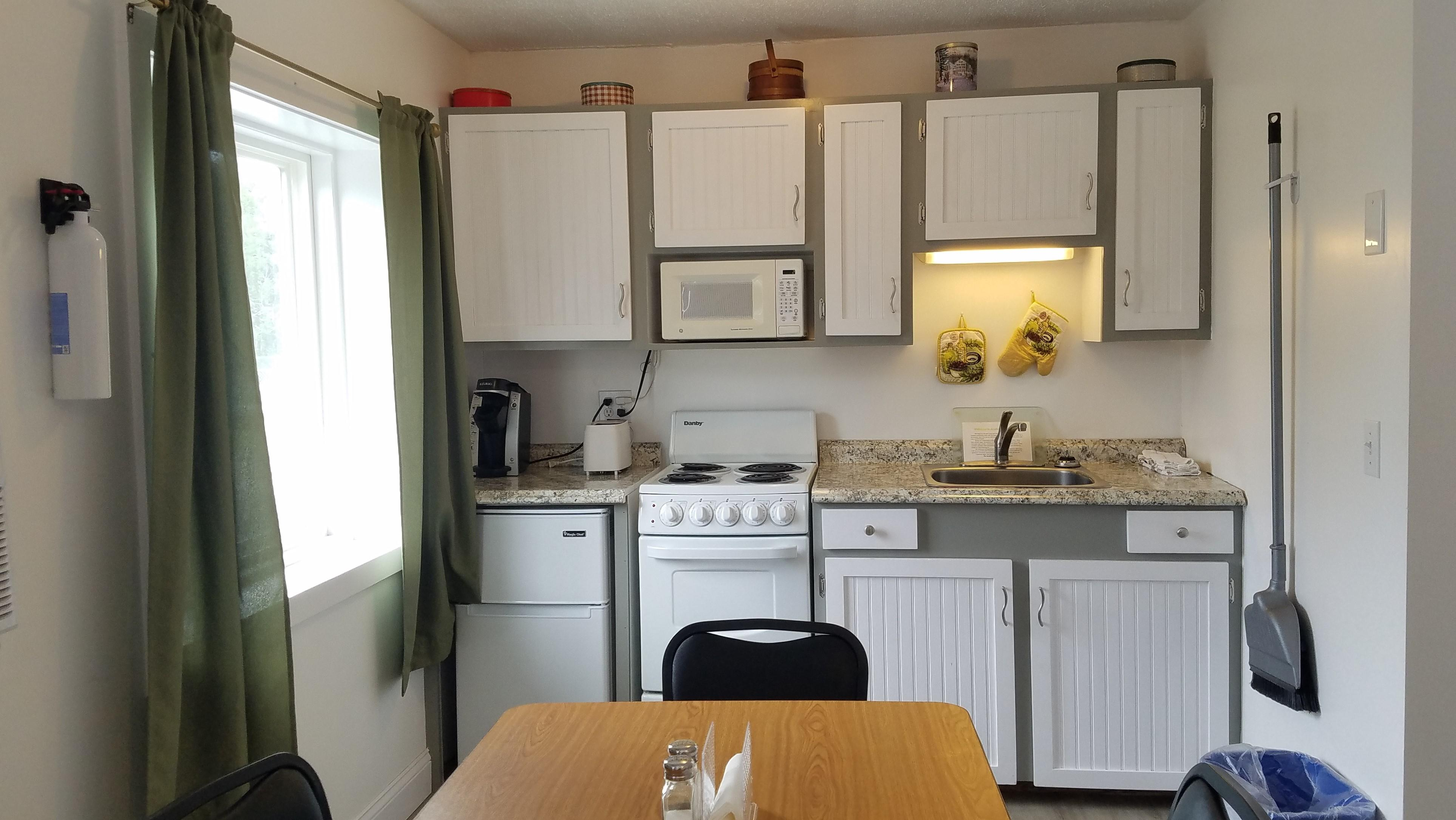 double beds with kitchen near acadia national park