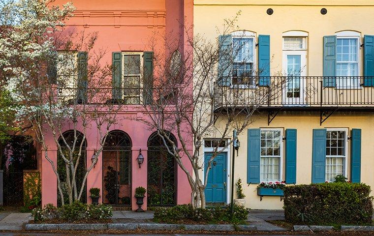 homes side by side in charleston south carolina
