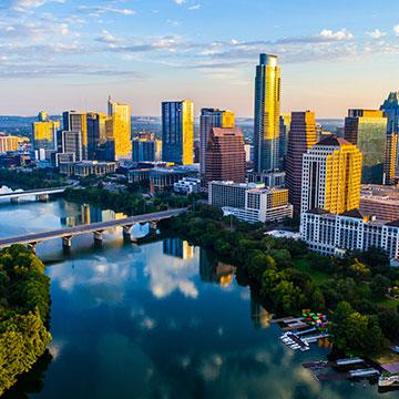 a skyline view of austin texas