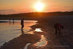 wendy & tal at beach stream sunset