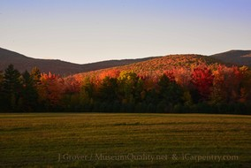 'Untitled' Landscape, Fall, Folliage, New England, Photography, Sunsets, mountains, clouds, Museum Quality