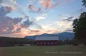 'Untitled' Landscape Photography Sunset mountains Barn clouds Museum Quality