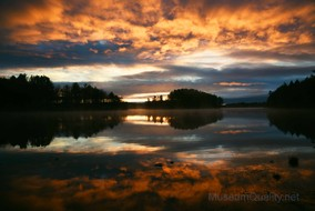 orange clouds sunrise wilson lake