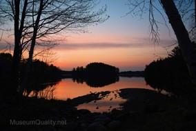 wilson lake sunrise