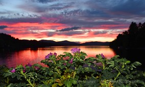 'Untitled' Landscape, Summer, Roses, New England, Photography, Sunsets, mountains, clouds, lakes, Museum Quality