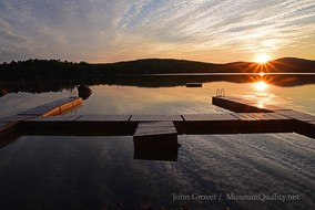 'Untitled' Landscape, Dock, Summer, New England, Photography, Sunsets, mountains, clouds, lakes, Museum Quality