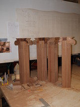 pilasters altar rough