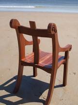 Prayer chair on beach 1