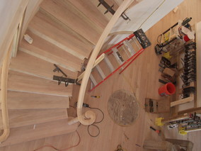curved stair construction