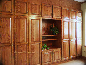 Custom solid oak office & conference room cabinetry