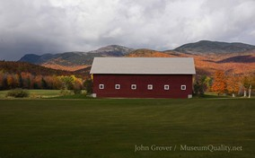 'Untitled' Landscape, Fall, Folliage, New England, Photography, Sunsets, mountains, Barns. clouds. Museum Quality