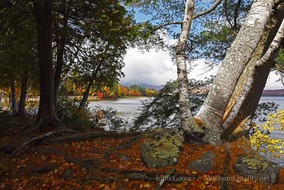 'Untitled' Landscape, Fall, Foliage, New England, Photography, Mountains, clouds, lakes, Museum Quality
