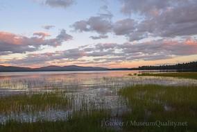 'Untitled' Landscape Photography Webb-Lake Sunset clouds Museum Quality