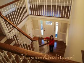 talia climbing stairs