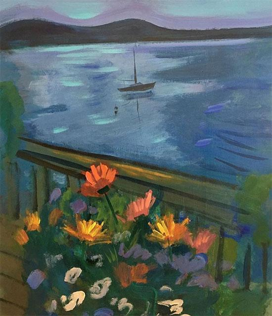 "Blaine's Boat, Down East, Maine, 24"" x 30"""