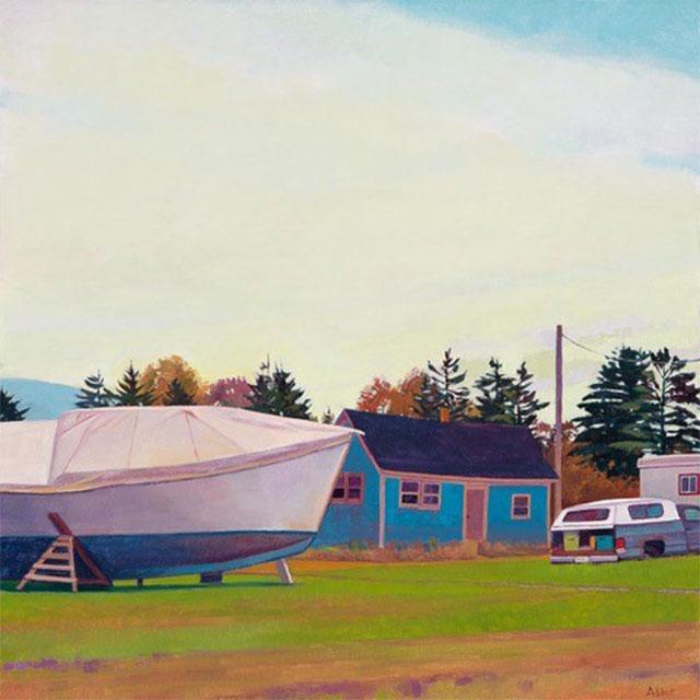 Boat, House, Trailer, Truck