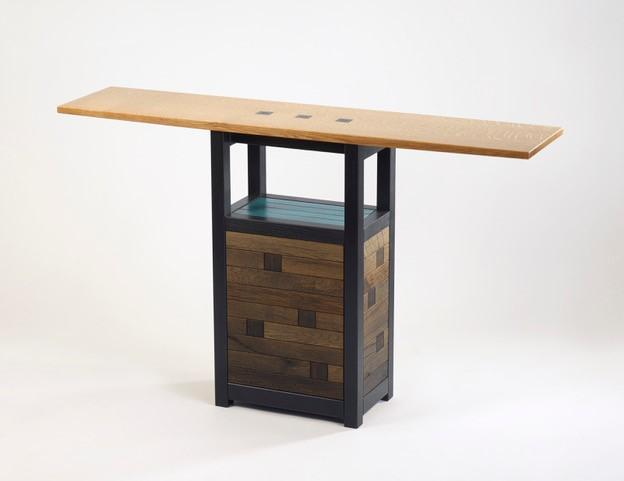 """entry way table for a home, Spud Point, 33""""h x 55""""w x 12""""d"""