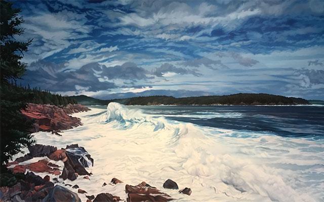Summer Storm, Otter Cliffs