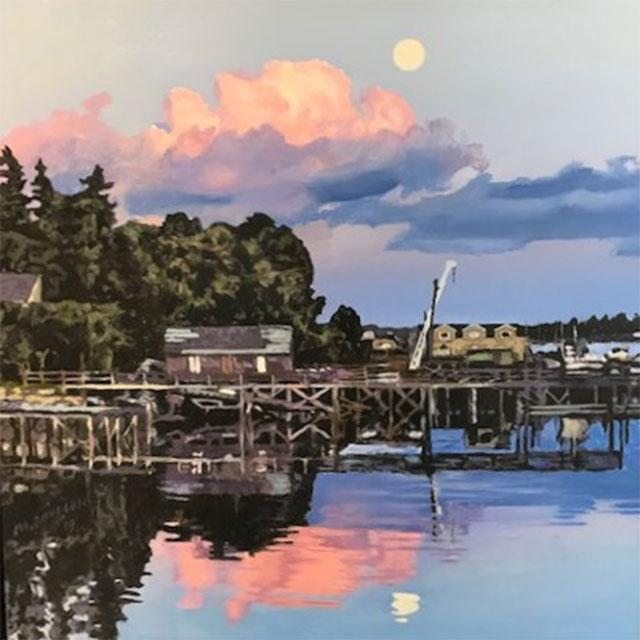 Supermoon Rising over Southwest Harbor