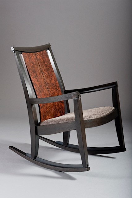 Walnut Steel rocker