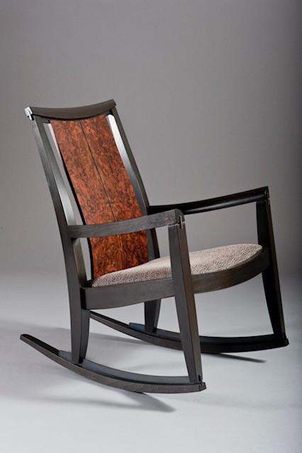 Rocking Chair, Walnut Steel rocker